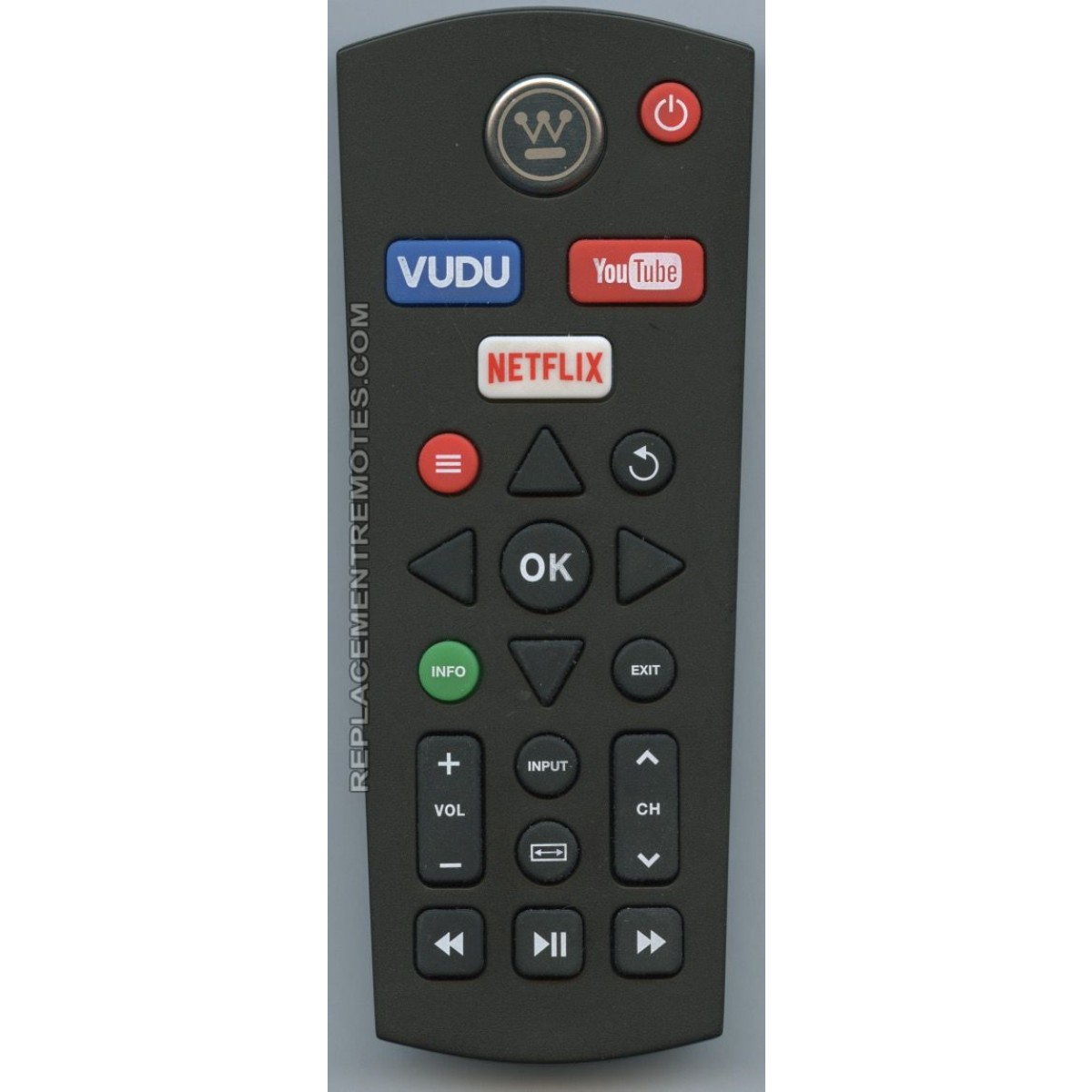 Westinghouse XHY-386-01 Smart TV Remote Control