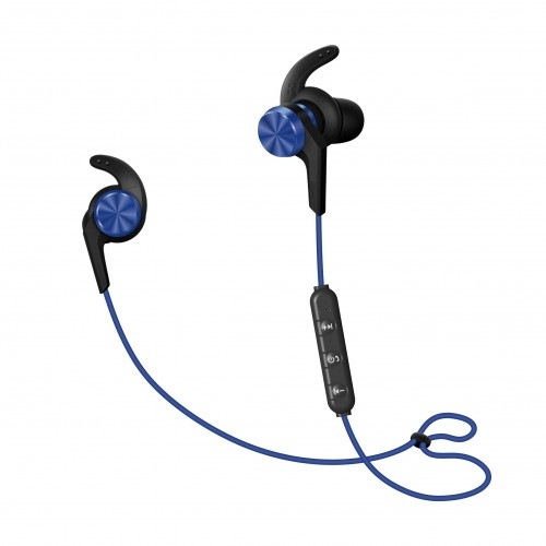 UJOY Bluetooth Vibration Speakers and in-ear headphones Bundle--Blue