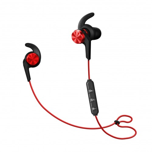 UJOY Bluetooth Vibration Speakers and in-ear headphones Bundle--Red