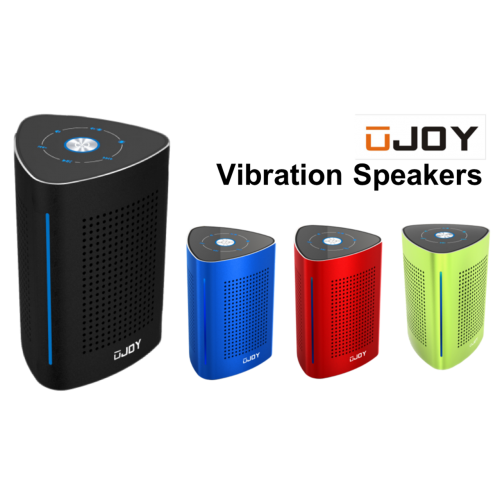 UJOY Bluetooth Portable Vibration Speakers--Black