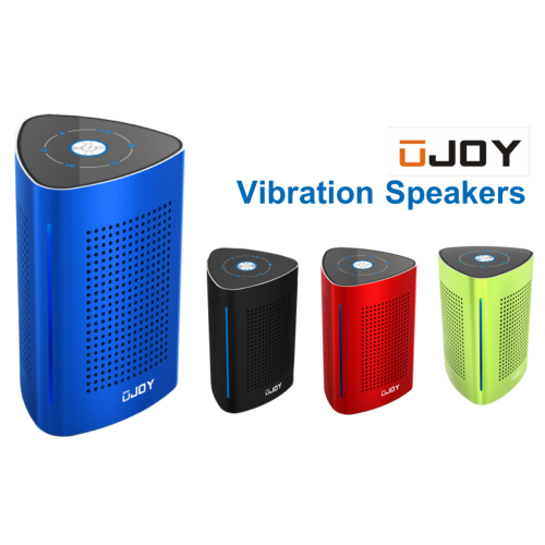 UJOY Bluetooth Portable Vibration Speakers--Blue