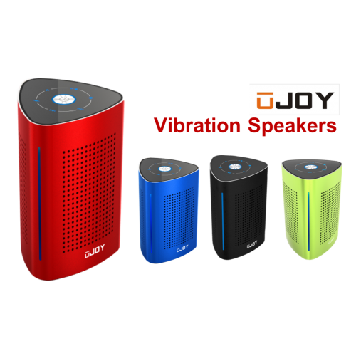 UJOY Bluetooth Portable Vibration Speakers--Red